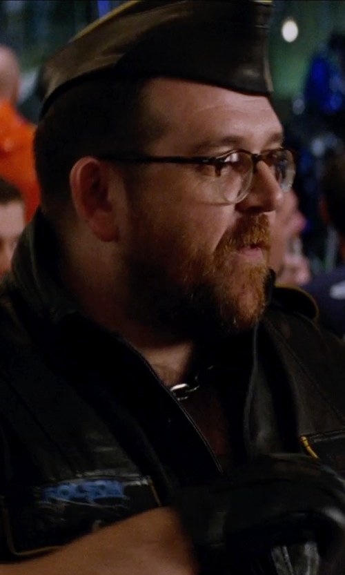 Nick Frost  with UGG Australia Men's Gibson Leather Gloves in Unfinished Business
