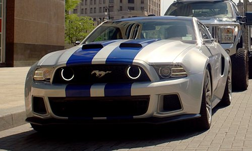 Aaron Paul with Ford Mustang Shelby GT500 Car in Need for Speed