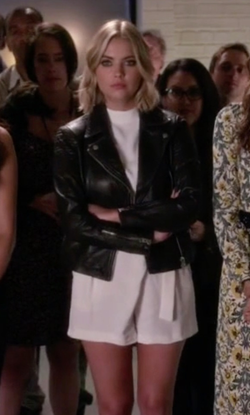Ashley Benson with Topshop D-Ring High Neck Romper in Pretty Little Liars