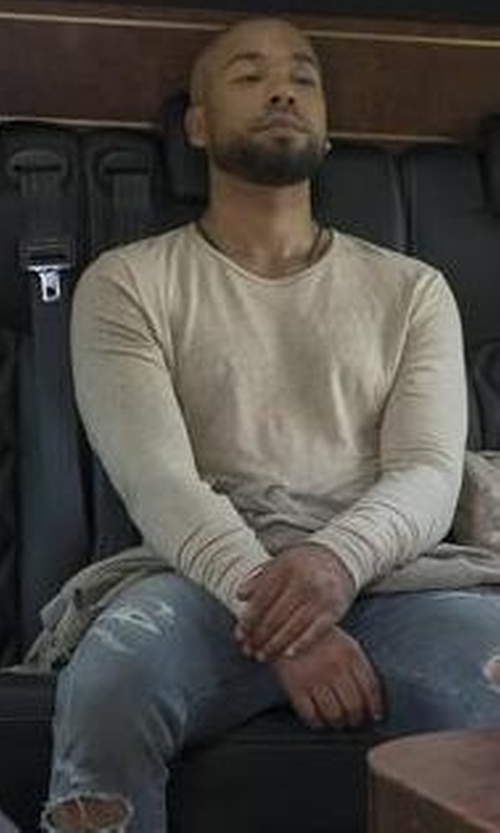 Jussie Smollett with J. Lindeberg Lenox Go Structure Merino Wool Sweater in Empire