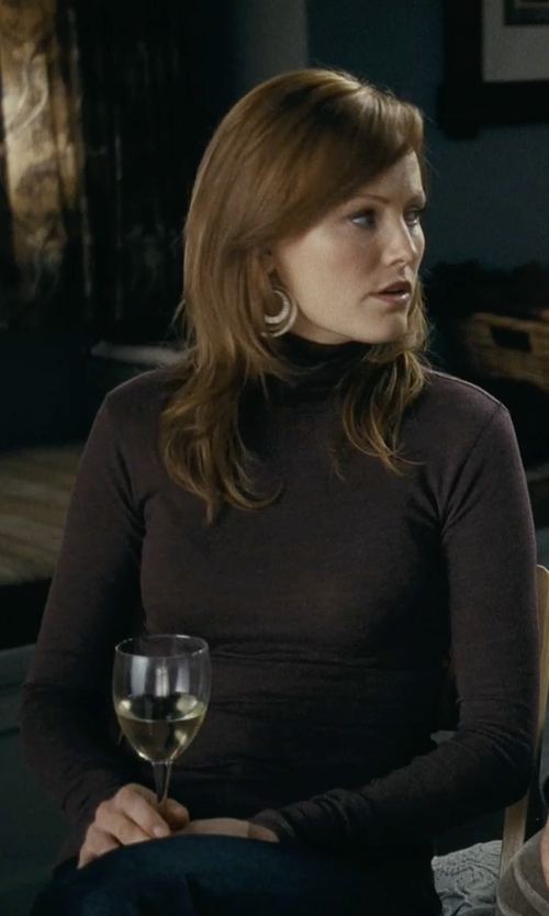 Malin Akerman with Just Cavalli Turtleneck Pullover in Couple's Retreat
