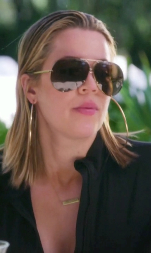 Khloe Kardashian with Porsche Design Carrera 5621 Aviator Sunglasses in Keeping Up With The Kardashians