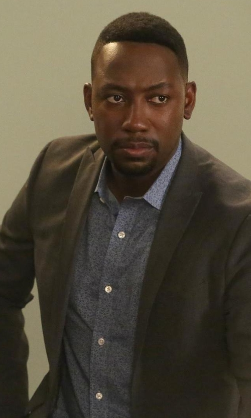 Lamorne Morris with Cutter & Buck 'Beaufort Floral Print' Sport Shirt in New Girl