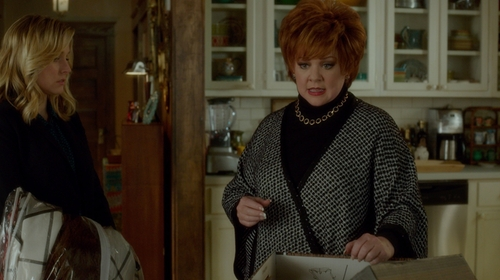 Melissa McCarthy with St. John Two-Tonal Wool Sweater in The Boss