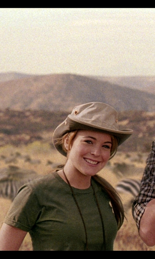 Lindsay Lohan with Stetson Mesh Safari Hat in Mean Girls