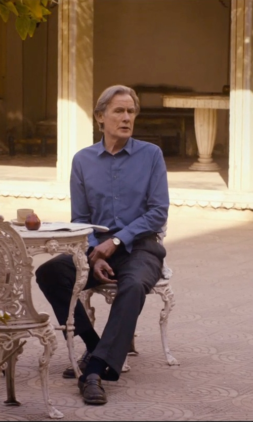 Bill Nighy with Tommy Hilfiger Embossed Leather Strap Watch in The Second Best Exotic Marigold Hotel