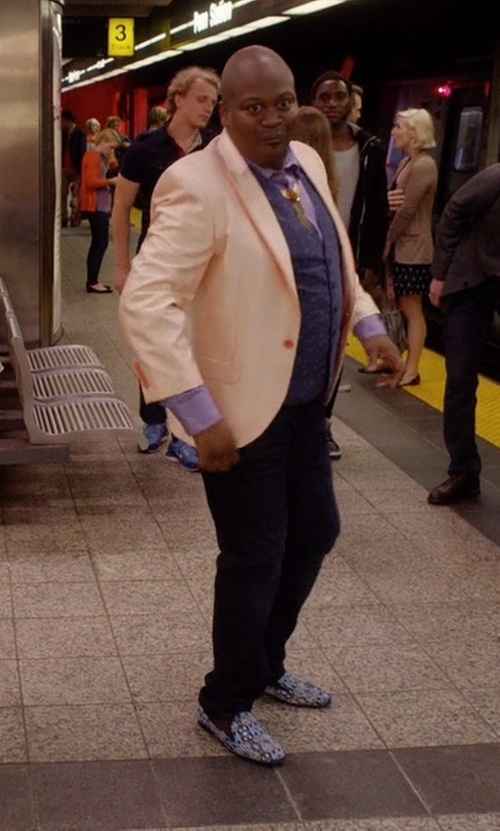 Tituss Burgess with Sperry Striper Island-Print Slip-On Loafers in Unbreakable Kimmy Schmidt