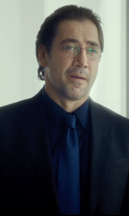 Javier Bardem with Armani Collezioni Stretch-Cotton Dress Shirt in The Gunman