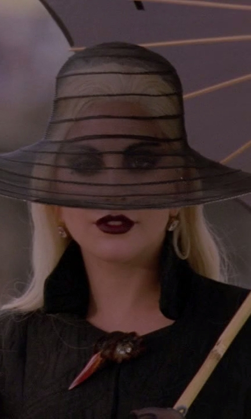 Lady Gaga with Mr. Song Millinery Kentucky Derby Hat in American Horror Story
