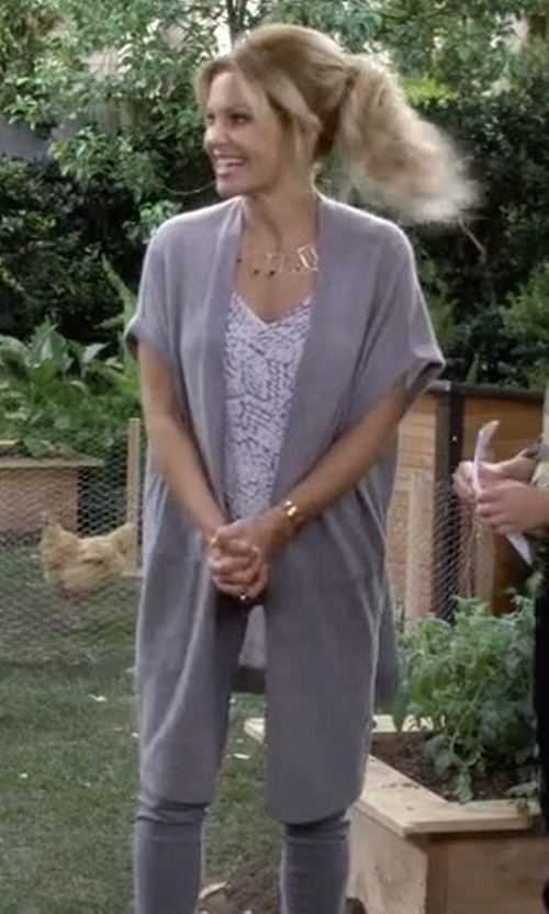 Candace Cameron Bure with Vince Long Cardigan in Fuller House