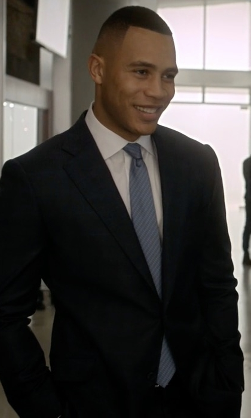 Trai Byers with Hugo Boss Textured Wool Two-Piece Suit in Empire