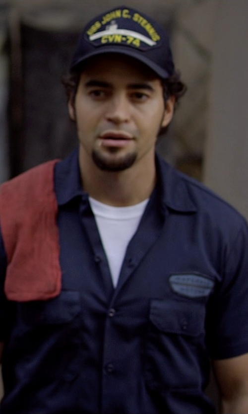 Ramon Rodriguez with Naval Aviation USS John C Stennis CVN-74 Hat in Need for Speed