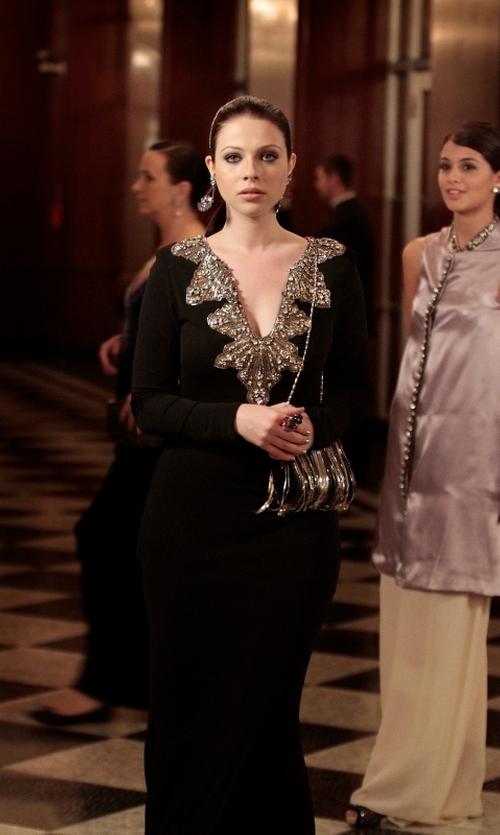 Michelle Trachtenberg with Elizabeth Cole Bryce Earrings in Gossip Girl