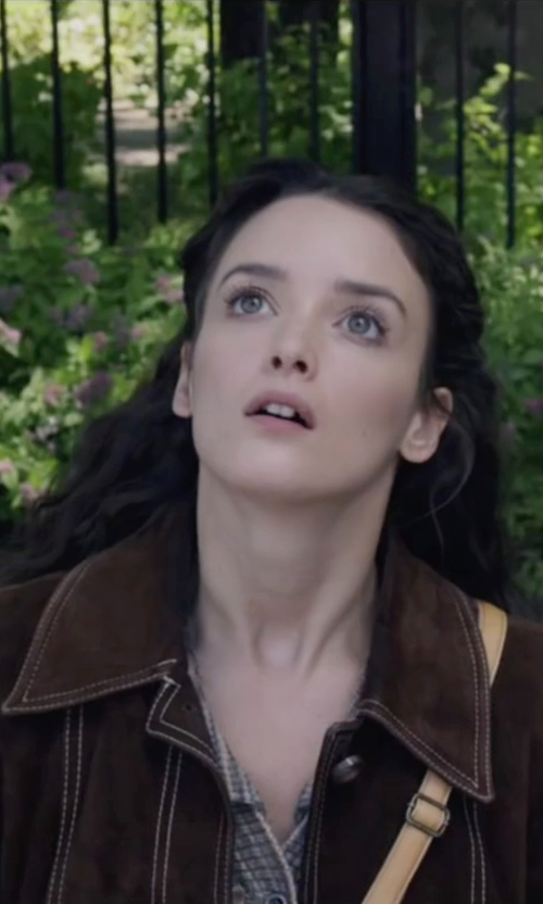 Charlotte Le Bon with Pendleton Merino Wool Belted Trench Coat in The Walk