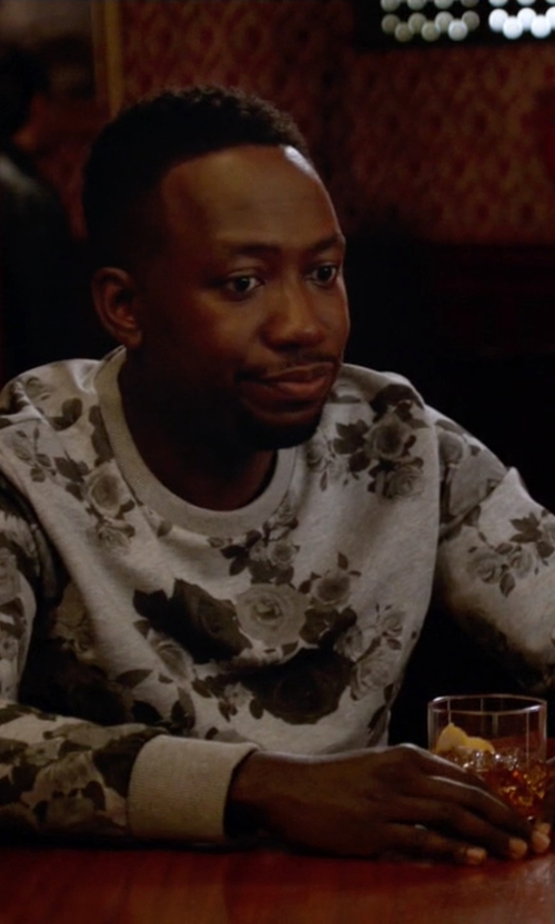 Lamorne Morris with H&M Graphic Floral Print Sweatshirt in New Girl