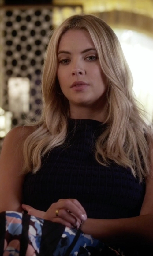 Ashley Benson with Alice + Olivia Knitted Top in Pretty Little Liars