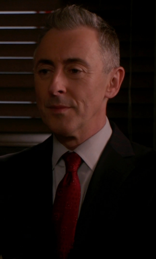 Alan Cumming with Etro Jacquard Solid Paisley Tie in The Good Wife