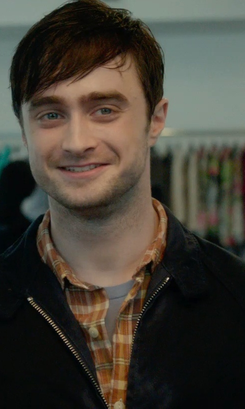 Daniel Radcliffe with Fay Bomber Jacket in What If