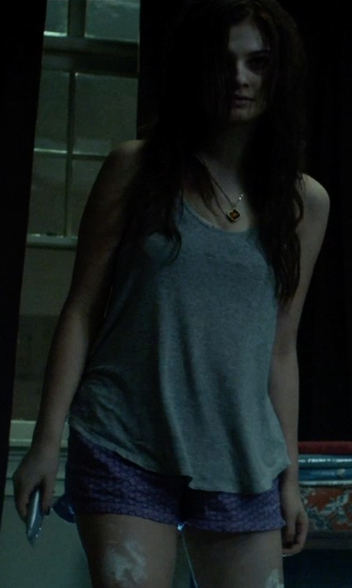 Stefanie Scott with Touch Of Europe Boxers Novelty Print Flannel Boxer Shorts in Insidious: Chapter 3