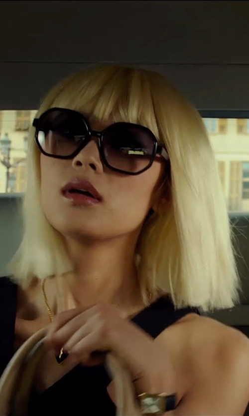 "Wenxia Yu with Chloé Hexagonal Frame ""Marcie"" Sunglasses in The Transporter: Refueled"