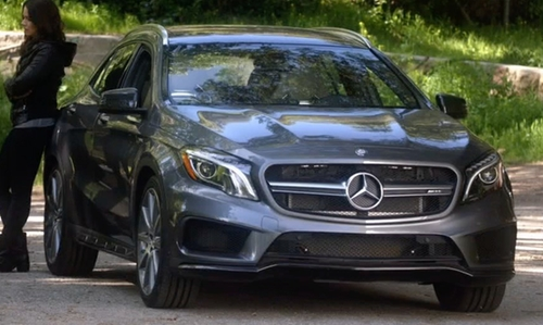 Katie Lowes with Mercedes Benz AMG GLA45 SUV in Scandal
