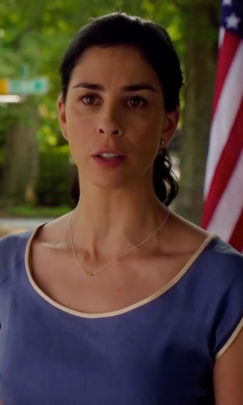 Sarah Silverman with Blair Lauren Brown Small Gold Nugget Necklace in Ashby