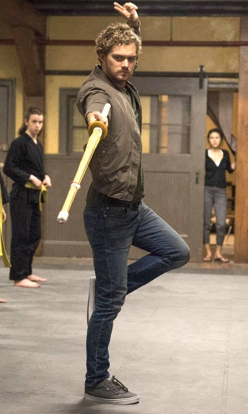 Finn Jones with Vans Atwood Sneakers in Marvel's Iron Fist