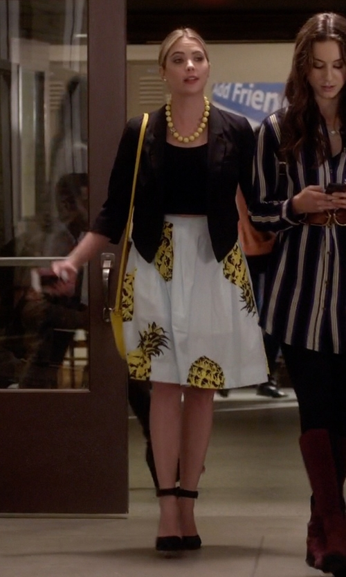 Ashley Benson with BP. 'Mallory' Ankle Strap Pumps in Pretty Little Liars