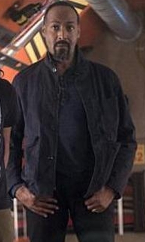 Jesse L. Martin with G-Star Raw Bronson Blazer in The Flash
