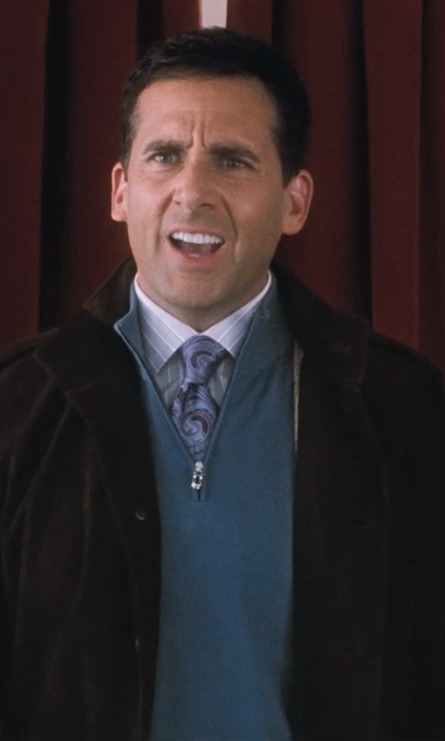 Steve Carell with Maison Martin Margiela Distressed Suede Bomber Jacket in Crazy, Stupid, Love.