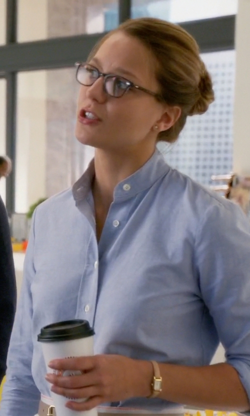 Melissa Benoist with Kate Spade New York Tiny Hudson Watch in Supergirl