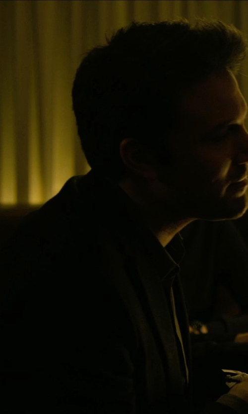 Ben Affleck with Saint Laurent Fitted Suit Jacket in Gone Girl