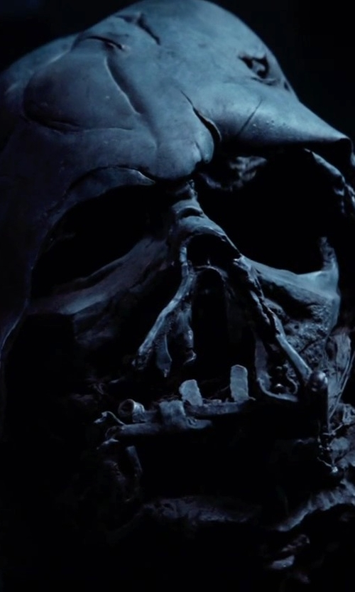Unknown Actor with Michael Kaplan (Costume Designer) Darth Vader Helmet in Star Wars: The Force Awakens