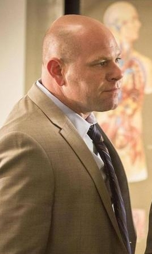 Domenick Lombardozzi with Coconut Grove Classic Fit Cotton Blend Suit in Rosewood