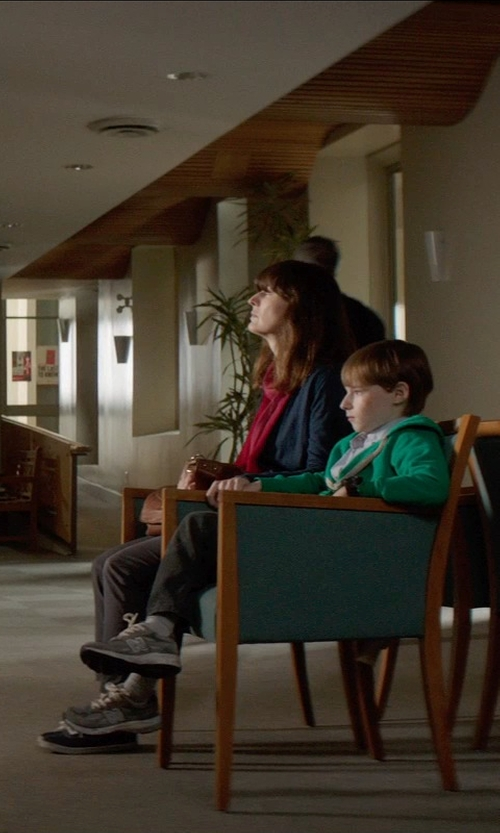 Rosemarie DeWitt with Barneys New York Fuzzy Scarf in Poltergeist