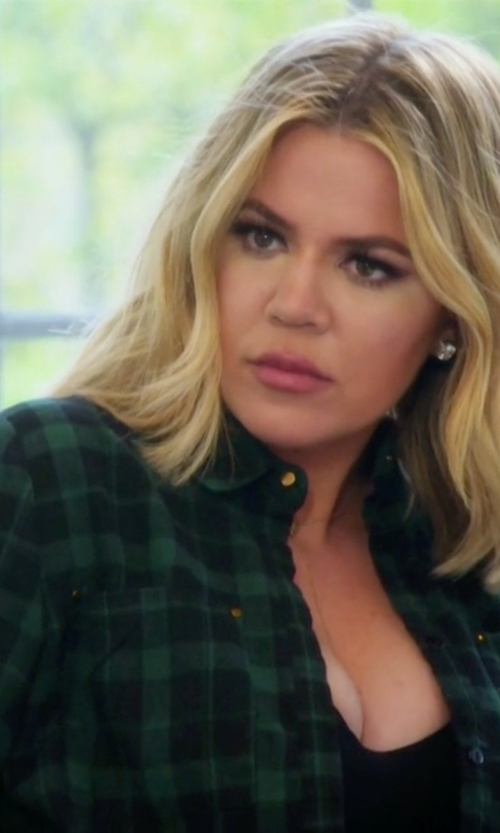 Khloe Kardashian with Brandy Melville Roseanne Flannel Shirt in Keeping Up With The Kardashians