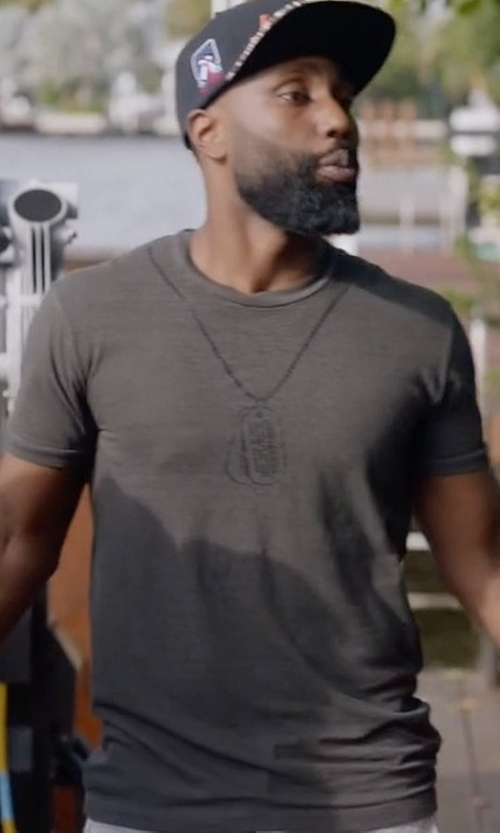John David Washington with Dsquared2 Chic Dan Fit T-Shirt in Ballers