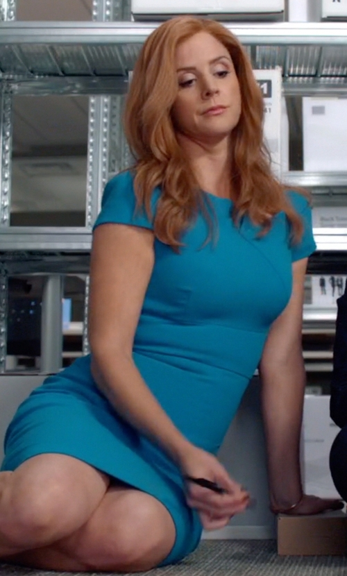 Sarah Rafferty with Thomas Sabo Sterling Silver Bangle Bracelet in Suits