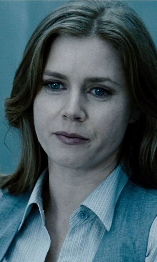 Amy Adams with Polo Ralph Lauren Custom-Fit Striped Shirt in Man of Steel