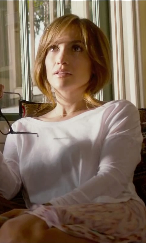 Jennifer Lopez with MSGM Chiffon Pleated Skirt in The Boy Next Door