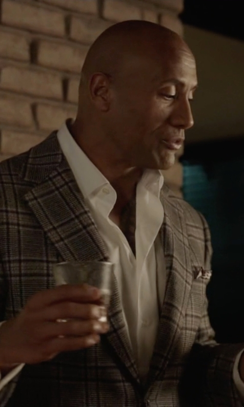 Dwayne Johnson with Isaia  Plaid Two Button Wool Suit in Ballers