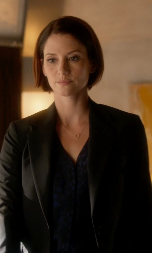 Chyler Leigh with Kasper Two-Button Blazer in Supergirl