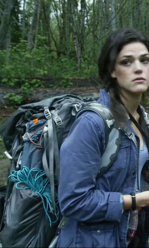 Callie Hernandez with Mountaintop Liter Backpack in Blair Witch