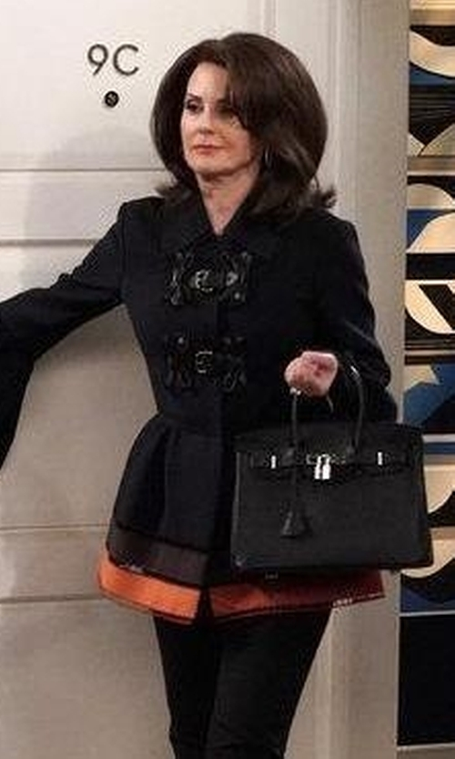 Megan Mullally with Hermes Swift Leather Birkin Bag in Will & Grace