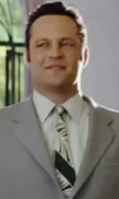 Vince Vaughn with Alexander Mcqueen Wave Print Silk Tie in Wedding Crashers