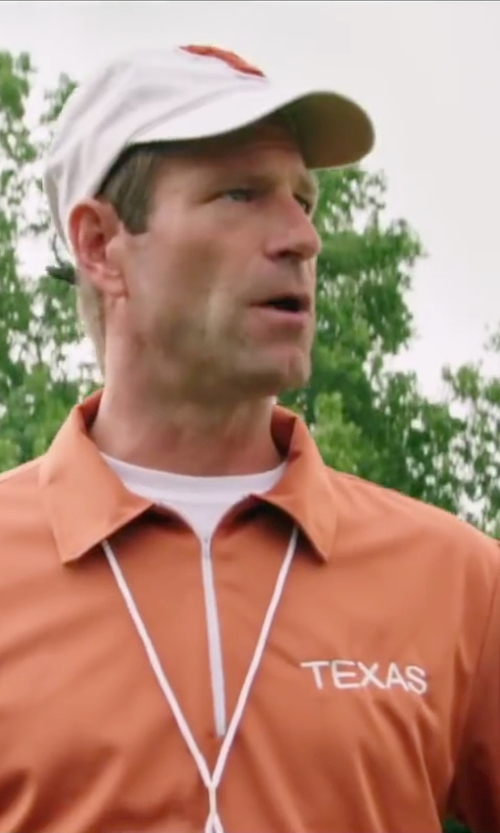 Aaron Eckhart with Texas Sports Texas Longhorns White One-Fit Hat in My All American