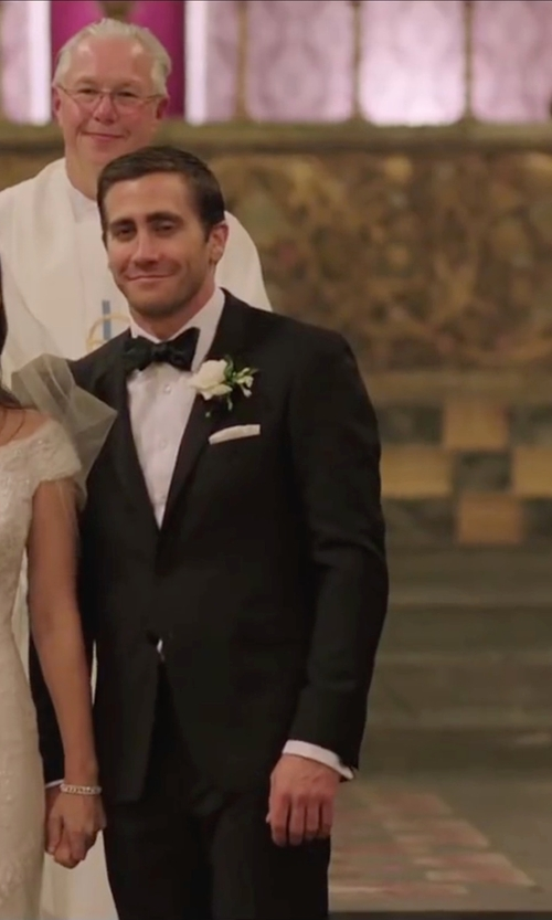 Jake Gyllenhaal with Brooks Brothers Fitzgerald Fit One-Button 1818 Tuxedo Suit in Demolition