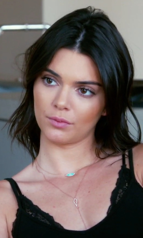 Kendall Jenner with Mejuri Evil Eye Necklace in Keeping Up With The Kardashians