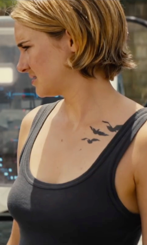Shailene Woodley with Rag and Bone JEAN Classic Beater Tank in The Divergent Series: Allegiant