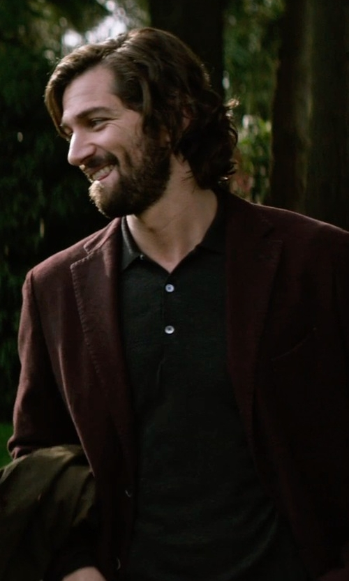 Michiel Huisman with Futuro Cotton Blazer in The Age of Adaline